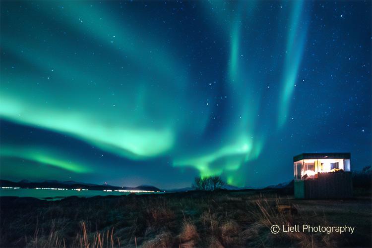 Nordlys i Lofoten-Vesterålen. Foto: Thorbjørn Liell - Liell Photography