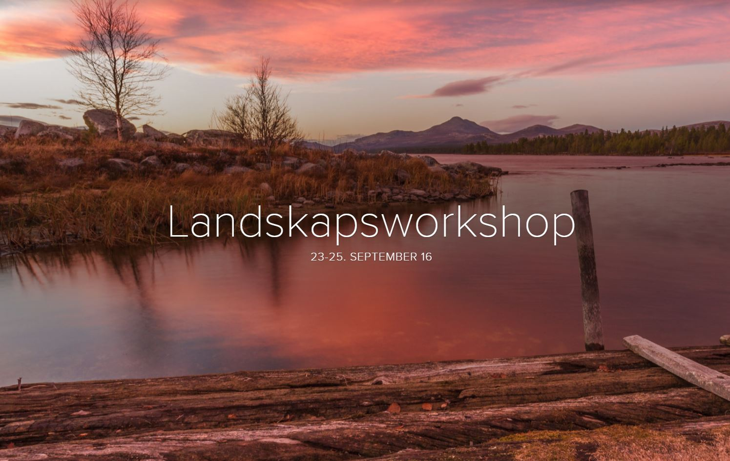 Workshop landskapsfoto